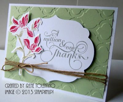 Backyard Basics with Million & One stamp sets - A Million Thanks