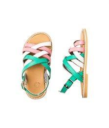 Sandales fille en cuir tressé à boucle - Chaussures - Fille