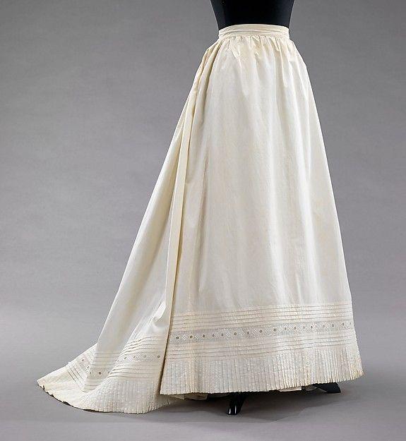 1890s Petticoat. Metropolitan Museum Of Art. 2009.300.3046