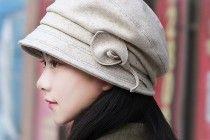 fiore casuale cappello di feltro per le donne della benna caldo pacchetto cappelli invernali