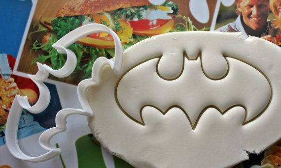 Batman segno 1 medio Cookie Cutter / fatto da di Smiltroy su Etsy