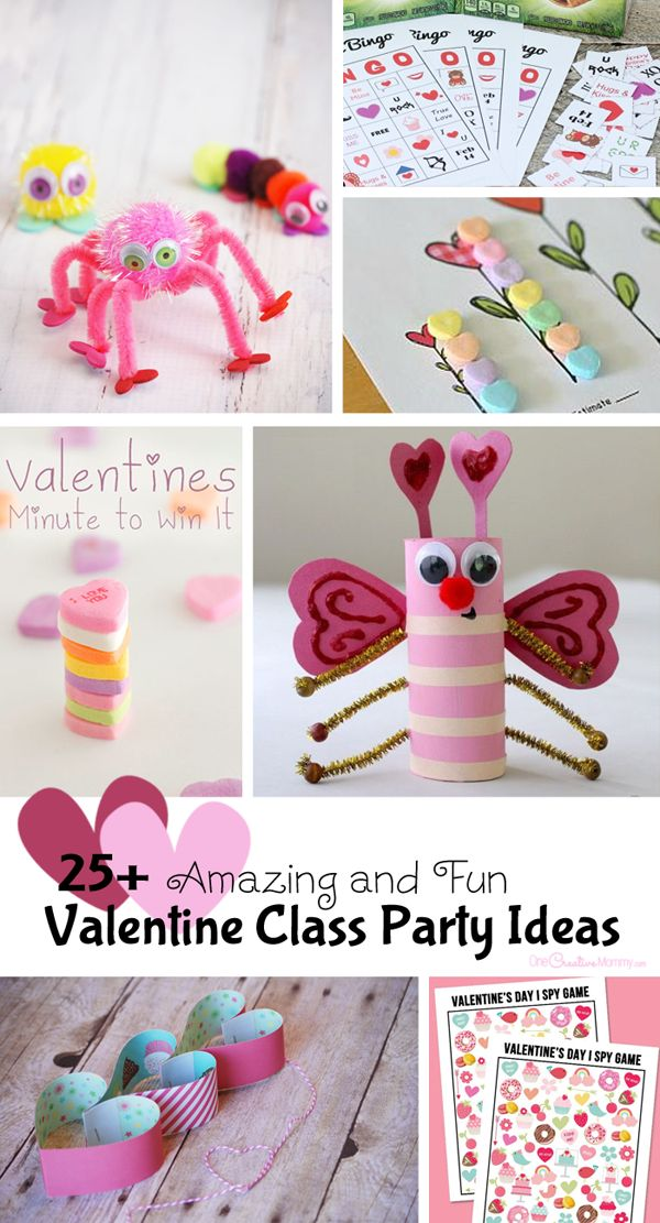 In charge of the Valentine class party this year? Check out 25+ ideas to get you started with games, crafts, printables and more! {OneCreativeMommy.com}: