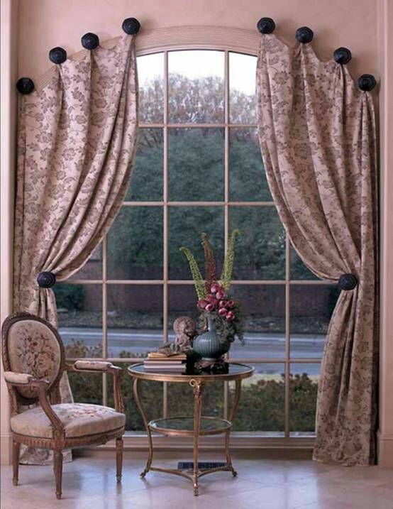 Window Treatments For Problem Windows Home Curtains Arched Drapery Hardware