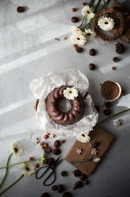Ciambellone alla ricotta, castagne e cioccolato