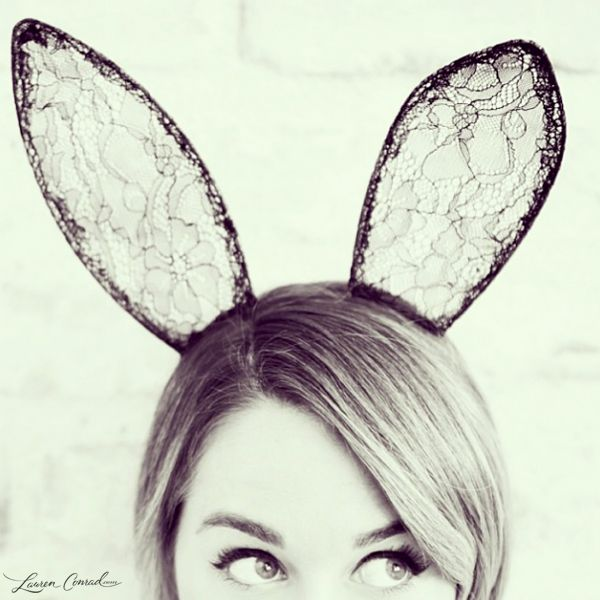 Lauren Conrad wearing bunny ears