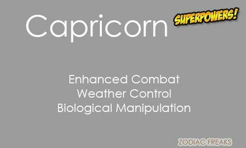 Capricorn Superpowers