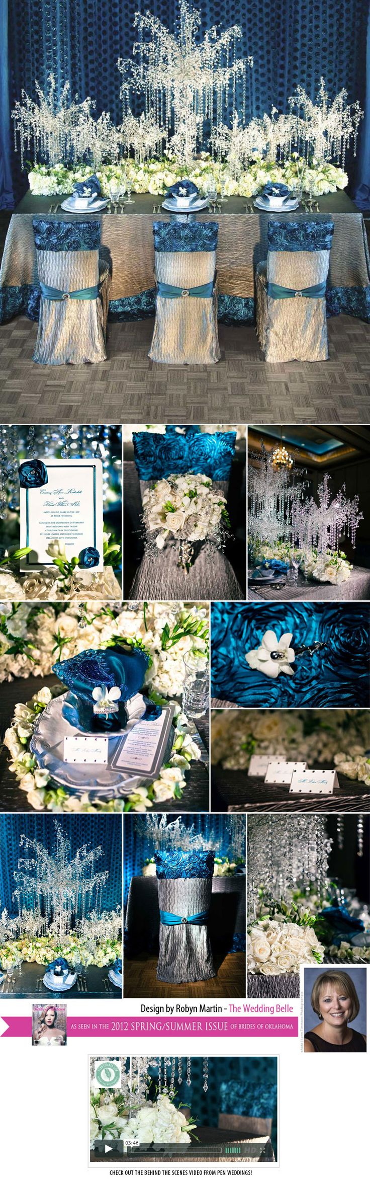 Incredible crystal inspired wedding table design from The Wedding Belle!