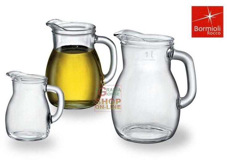 BORMIOLI CARAFFA BISTROT IN VETRO PER VINO E ACQUA ML. 500 https://www.chiaradecaria.it/it/bormioli/23033-bormioli-caraffa-bistrot-in-vetro-per-vino-e-acqua-ml-500-8004360015928.html