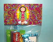 Virgensita Plis (please) goody bag and candy bag toppers for birthday or party favor thank you gift