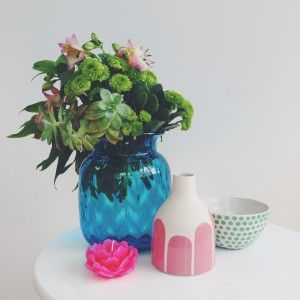 Via My Beloved Style. Of course with my floral obsession seeing all of the vases on offer had me wishing for extra limbs to hold onto everything, the added bonus being that they are all so lovely you don't even need flowers in them.