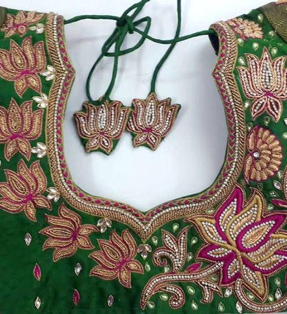 Best aari work designs on blouses images pinterest