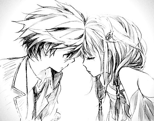 Super Cute U0026quot;anime-styleu0026quot; Couple | Sketches | Pinterest | Anime Love Cas And Couple