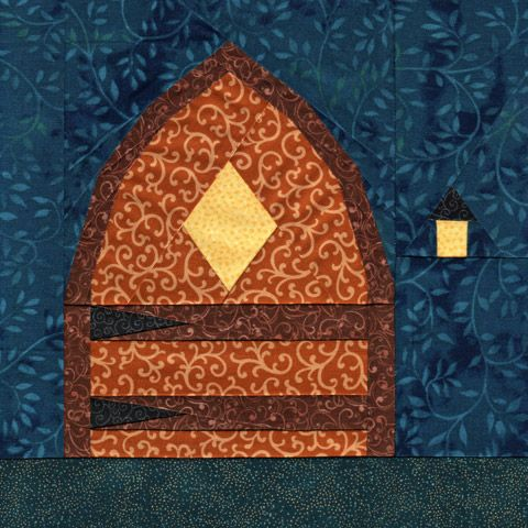 1000 images about paper piecing quilt patterns on for Fairy door pattern