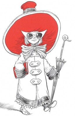 Ottoline - and Hat Chris Riddell emphasis, color, line, repetition