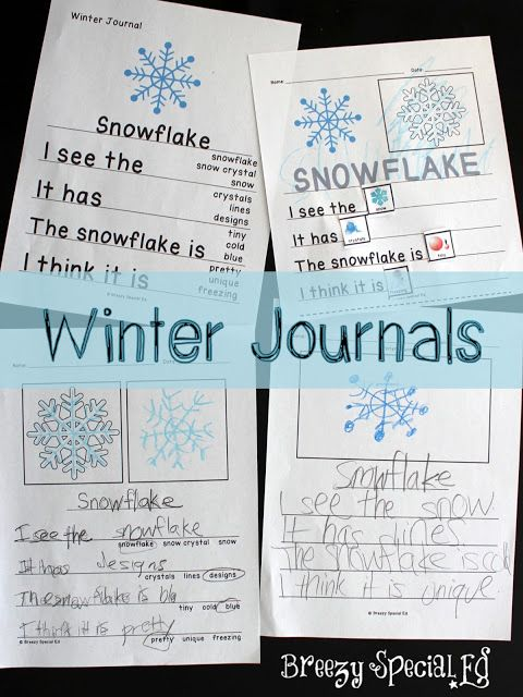 Breezy Special Ed: Winter Themed LA, Math, and Crafts: Lessons for Special Education