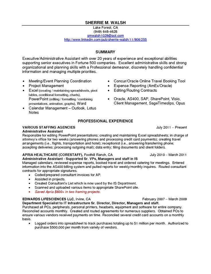Administrative Assistant Cover Letter Best Sample Resumes Resume
