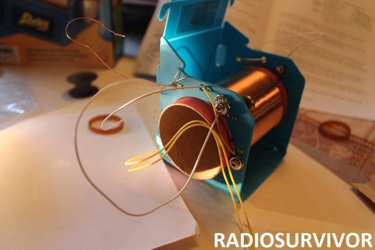 Building My 2nd Crystal Radio - Slinky Crystal Radio Kit - Radio Survivor