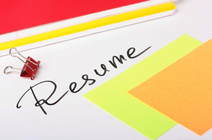 A résumé - your future on a piece of paper