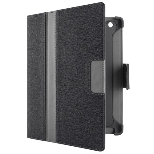 Étui folio Cinema Stripe de Belkin pour iPad (3e gén.)/iPad (4e gén.) - Noir