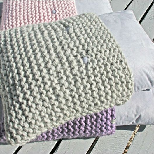COUSSIN TRICOT : Coussin tricot 'Cosy'