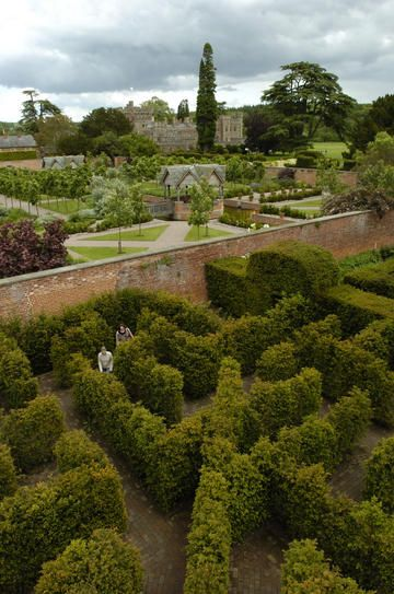 The view from the maze tower at 'The other Hampton Court'. Herefordshire, built in 1427 it actually predates Henry VIII's Hampton court in London