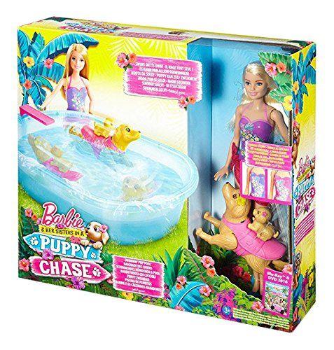 """Barbie – DMC32 – Baignade des Chiens: Inspirée par le dessin animé de """"Barbie et ses Sœurs, à la Recherche des Chiots"""", voici la première…"""