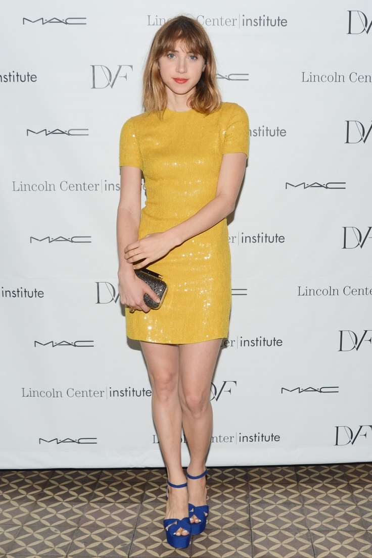 Zoe Kazan in DVF at the Lincoln Center Institute Junior Spring Benefit