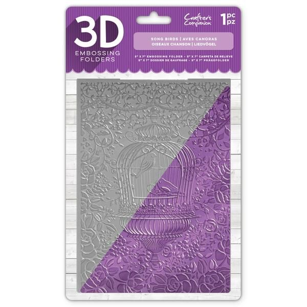 """Crafter/'s Companion 5/"""" x 7/"""" 3D Card Embossing Folder French Lace"""