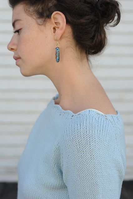 Genevieve Pullover Pattern by Cecily Glowik Macdonald - swooning over that neckline