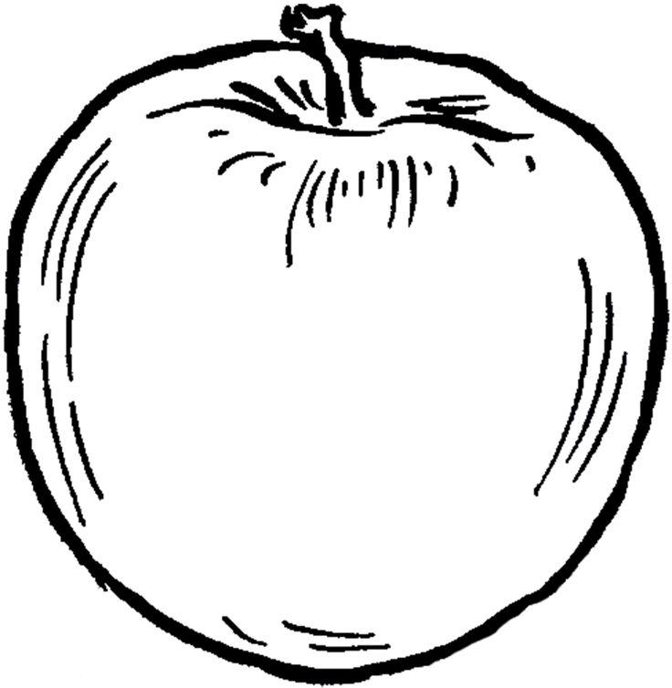 черно-белая картинка яблоками