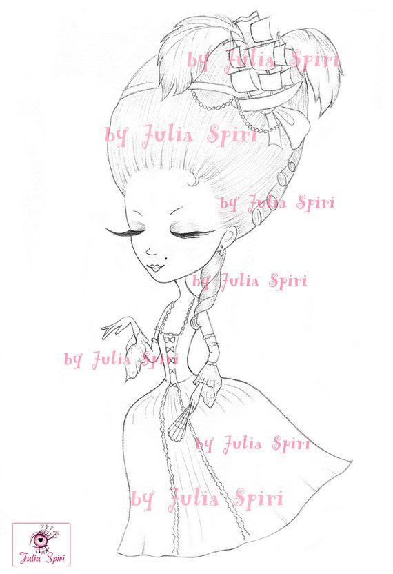 Princess Digital stamps Vintage Digi Princesses by JuliaSpiri