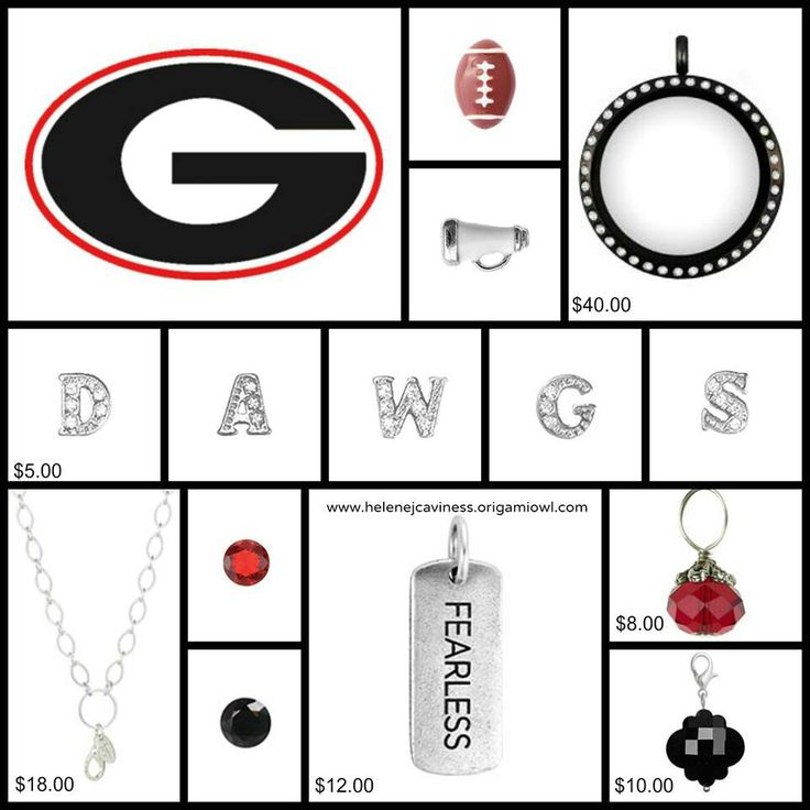 Build you own Origami Owl UGA locket.  Go Dawgs!  To order, go to www.kreid.OrigamiOwl.com or email me for more info at locketsoflove@outlook.com