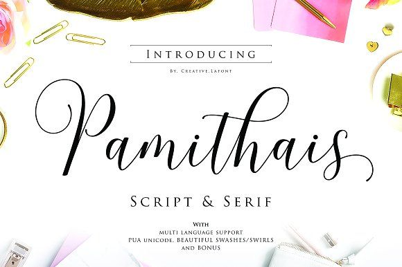 New! Pamithais Script by Creative.lafont on @creativemarket