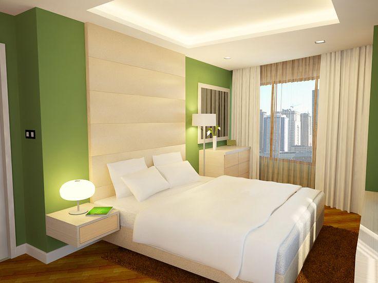 Dormitiorio verde manzana blanco