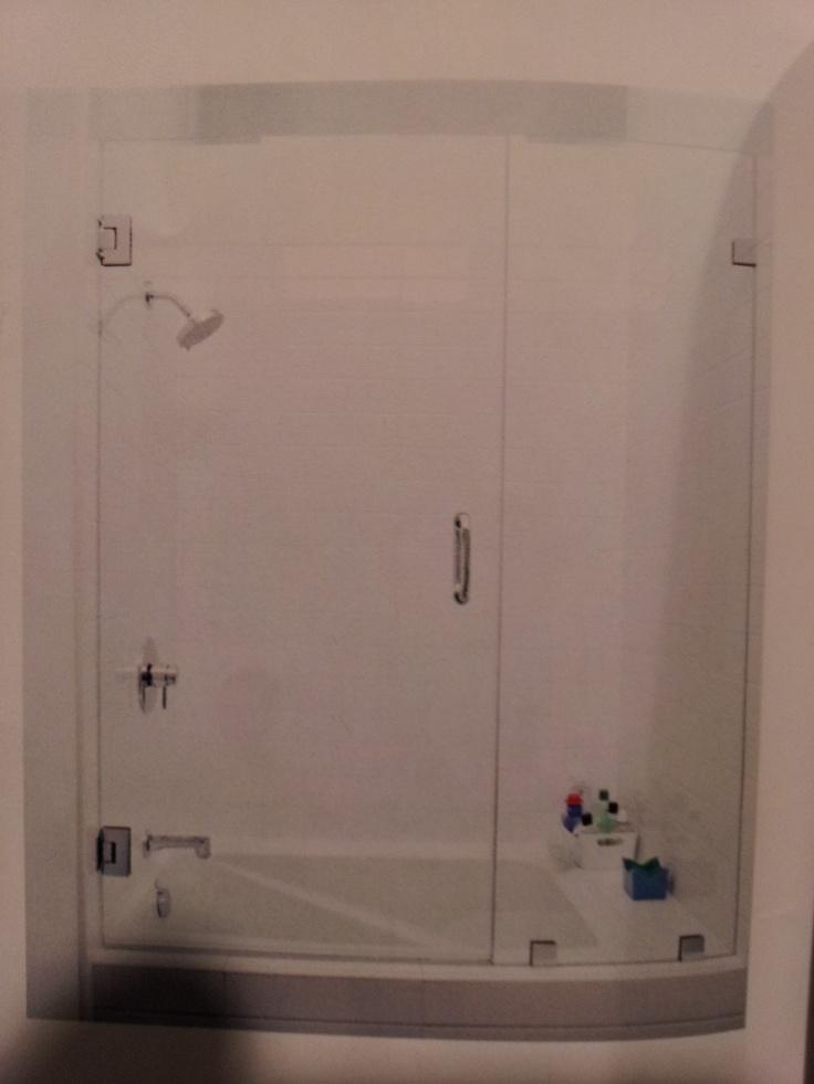 Bathroom tub glass doors