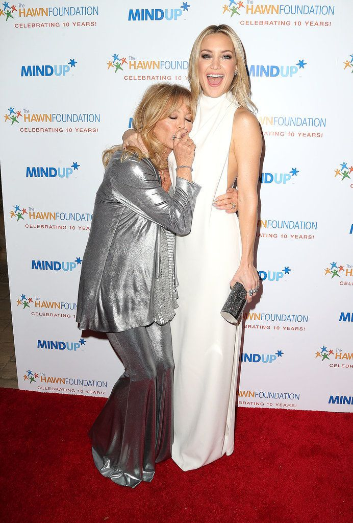 Kate Hudson and Goldie Hawn love to get silly on the red carpet.