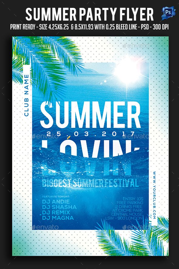 106 best beach party Flyers images on Pinterest Party flyer - holiday flyer template example 2
