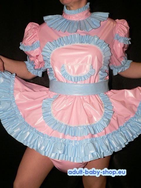 PVC-00991-0214/PVC dress with sewn in diaper pantie*Szonja