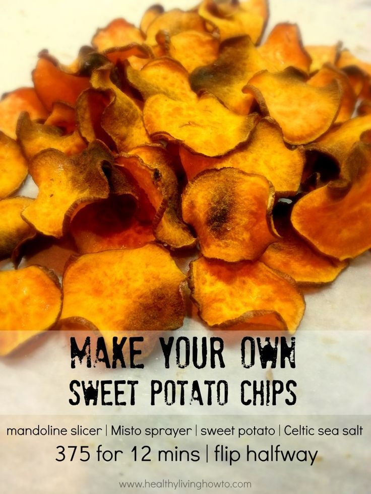 Make Your Own Sweet Potato Chips - I hope this method doesn't cause charcoal chips :)