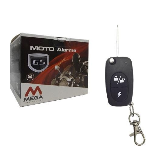 Alarme Moto Mega G5 Universal - Liga Moto Controle - Resistente a Agua - Com 01 Chave Canivete