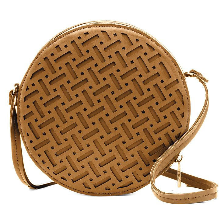 Sashenka by Olga Berg - Sashenka 'Pixie' Laser Cut Shoulder Bag - Sa8187 (Tan Handbag)