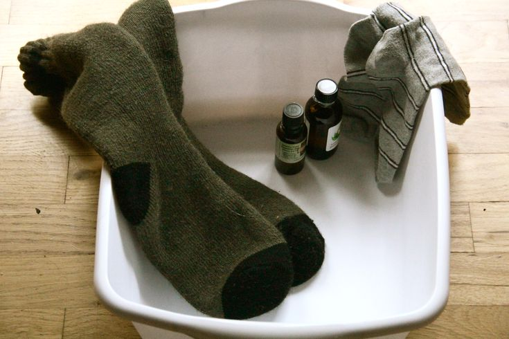 At the first sign of a cold do the wet sock treatment to stop it in its tracks