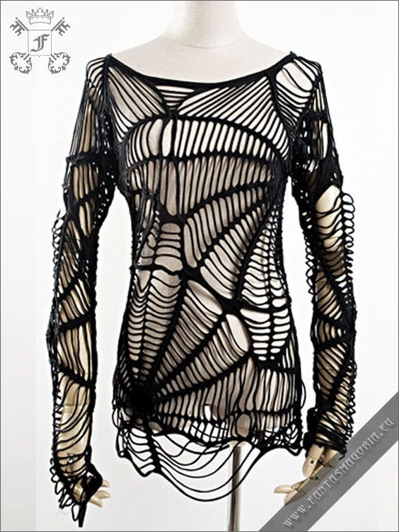T-224 Spider web Gothic T-shirt from PUNK RAVE