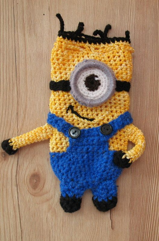 Minionek-sakiewka / szydełko // Minionek - purse, crochet hook