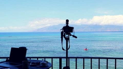 https://www.udemy.com/travelvideo/#/ This shot is taken from a waterfront property in West Maui. Learn how to take better travel videos here