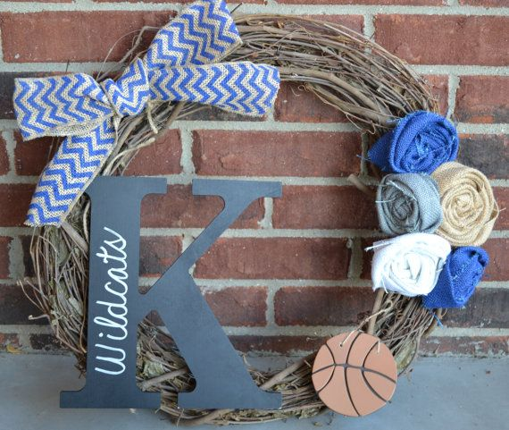 Burlap Kentucky Wildcats Wreath by VineandWineBoutique