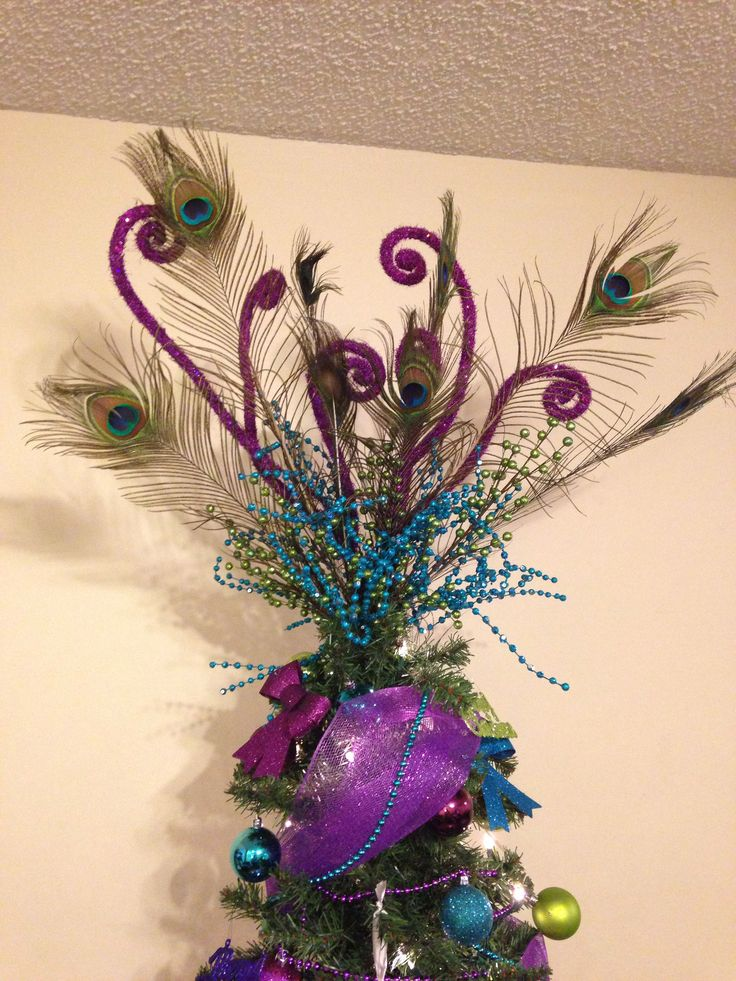 Peacock Christmas Tree Topper
