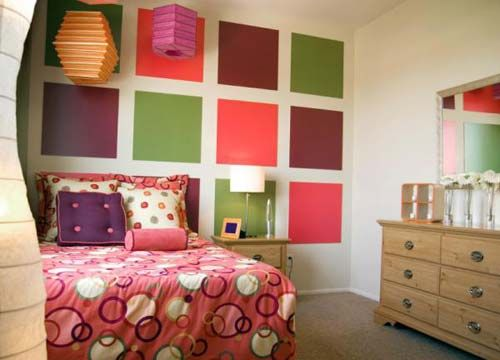 This Tetradic Room Is Interesting Because Of The Color Panels On Walls And In