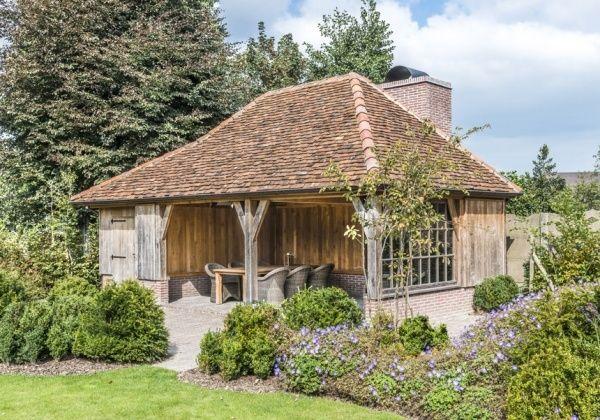 Een romantisch barbecue in de tuin, Wood Arts zorgt voor een open bijgebouw in de woonstijl van de klant