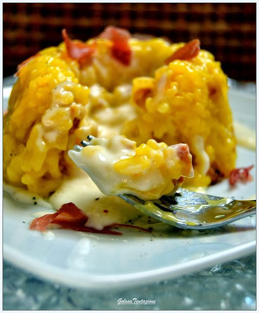 Timballini di riso con fonduta